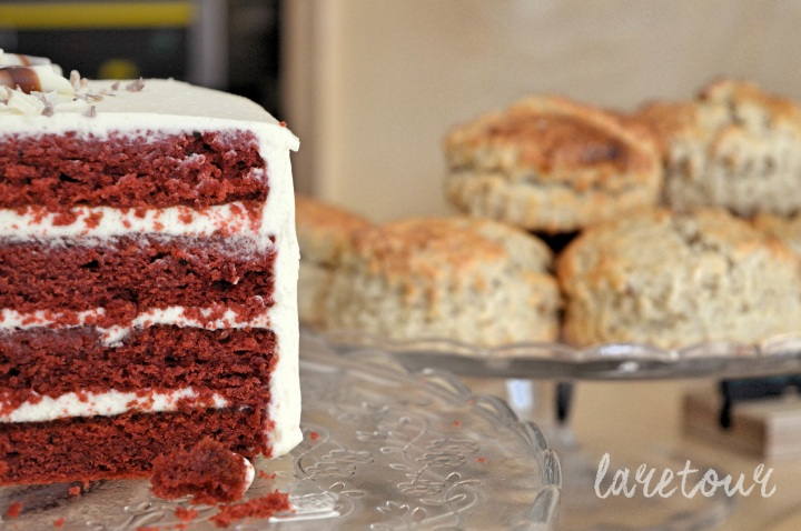 I wish this was my birthday cake... Red velvet at McCune Smith Café.