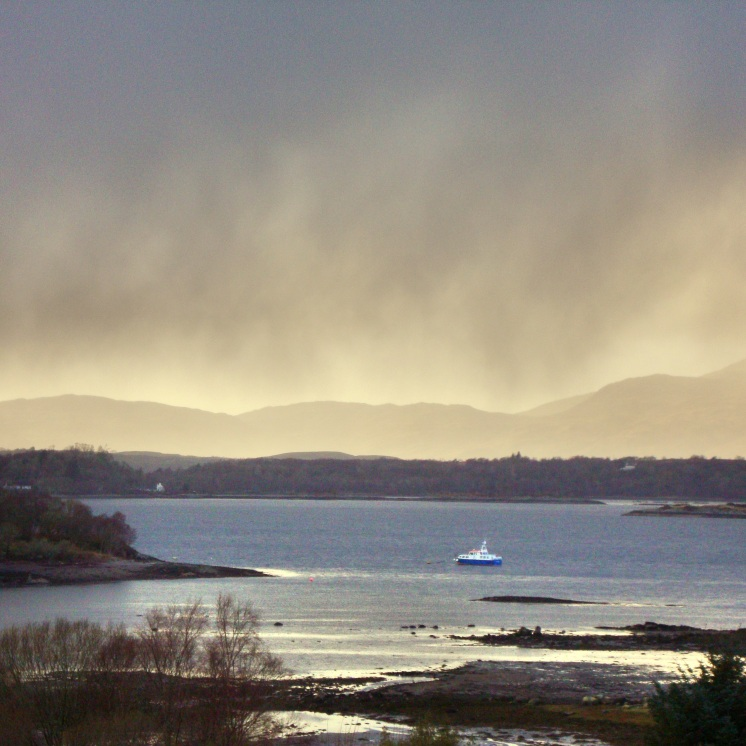 Twilight towards the loch