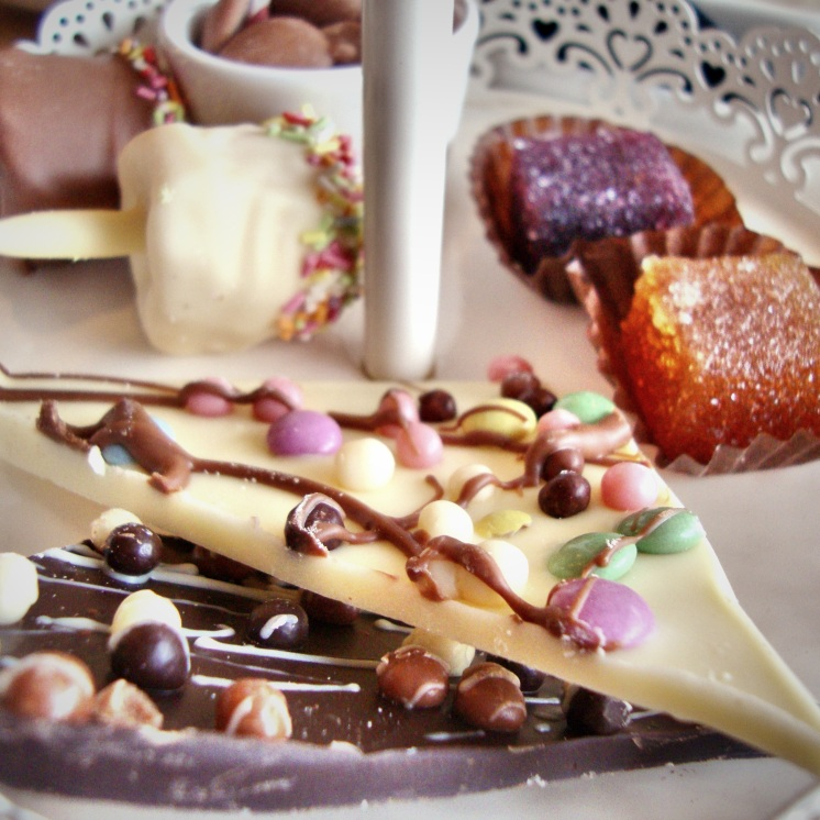 Chocolate tasters at Oban Chocolate Shop