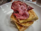 French toast with Puddledub bacon