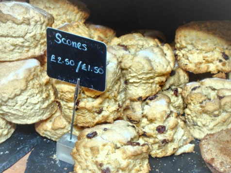 Sweet sugared scones