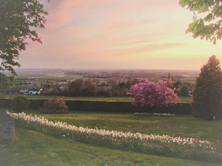 The jardin at sunset