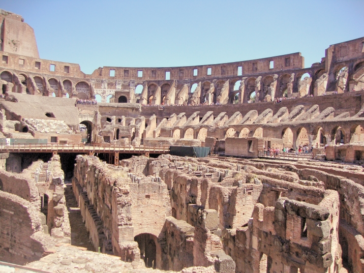 Inside the Roman Colosseum