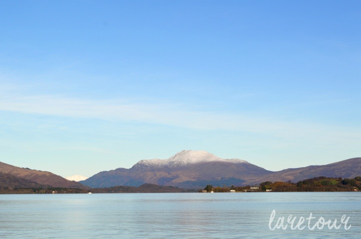 The view to Ben Lomond from the shore