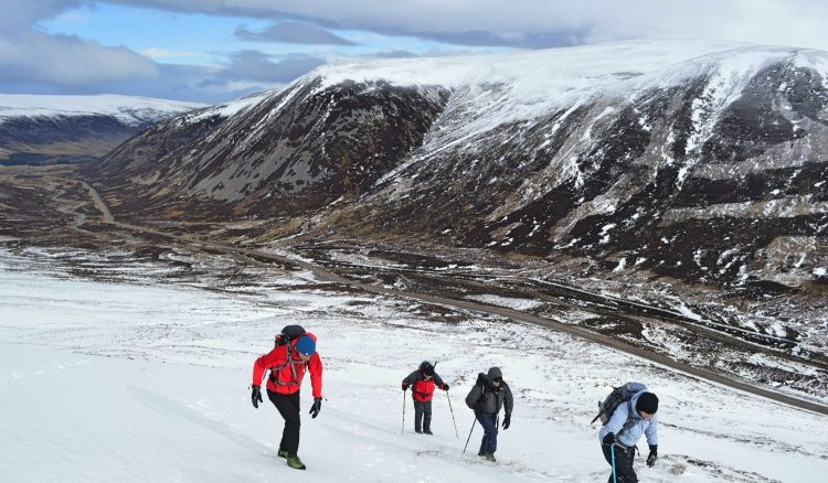 Heading up the side of Carn Aosda