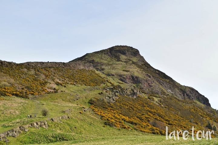 Arthur's Seat with its spring colours