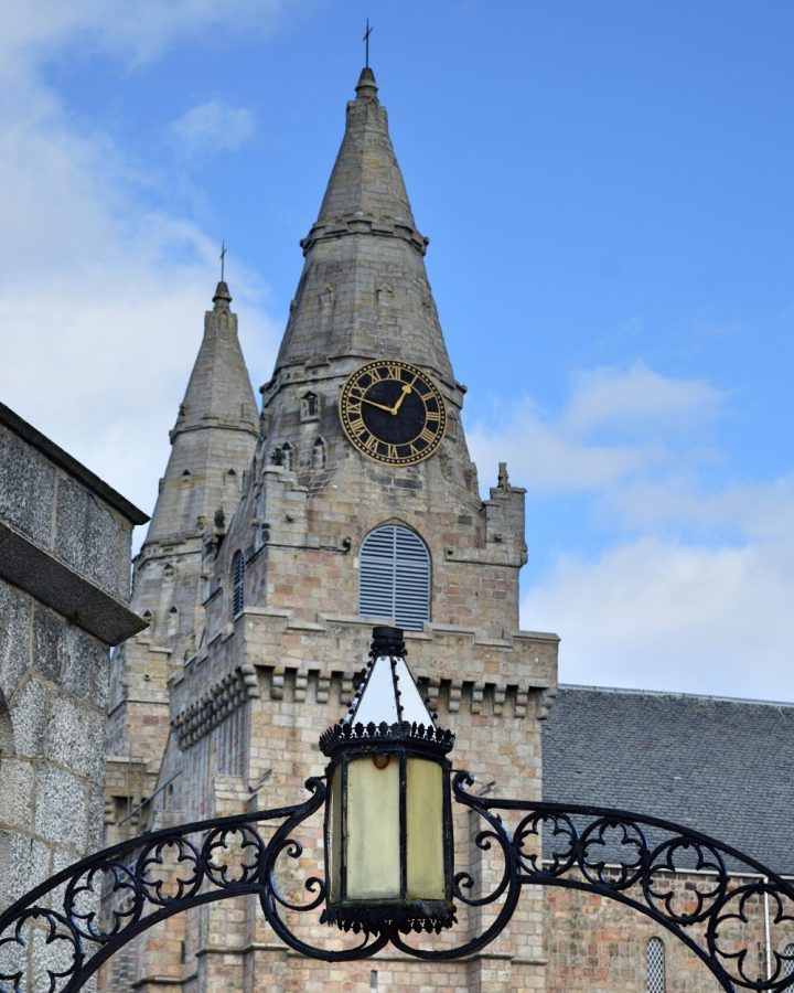 The gateway to St Machar's Cathedral
