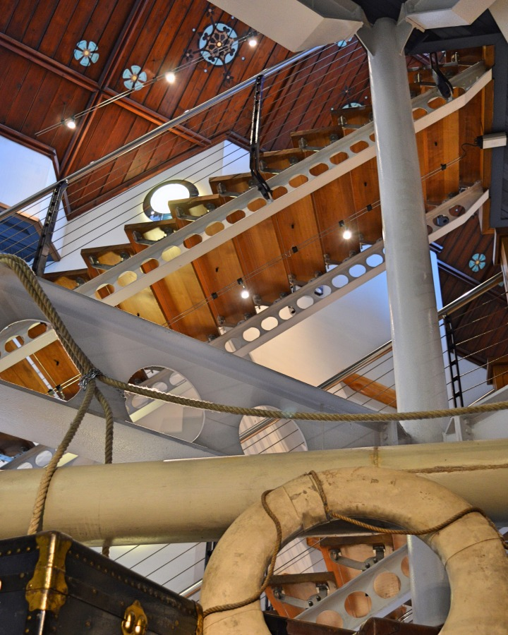 Looking upwards in the maritime museum