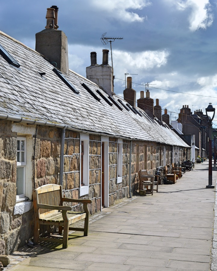 Rows of cottages at Footdee