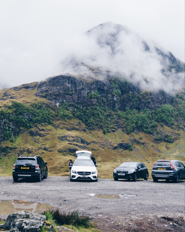 A car park in Glen Coe