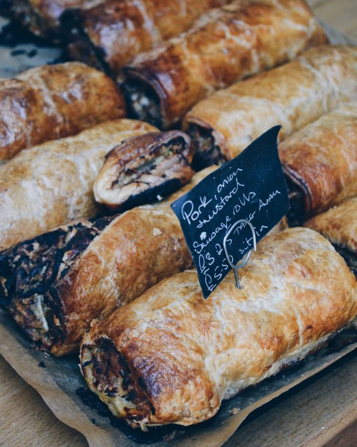 Homemade sausage rolls at the Old Pier Cafe