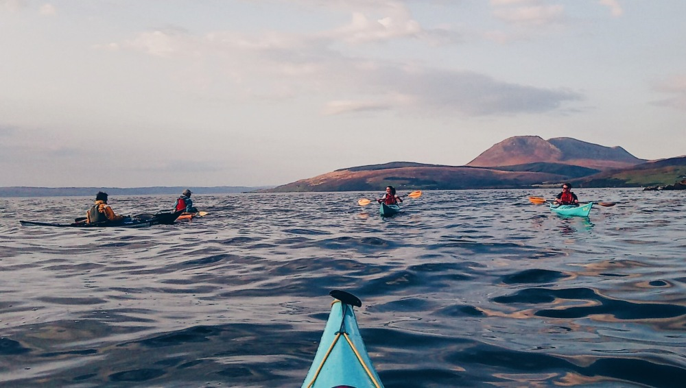 Kayaking with Andy from Otter's Tail on the west coast of the Isle of Arran