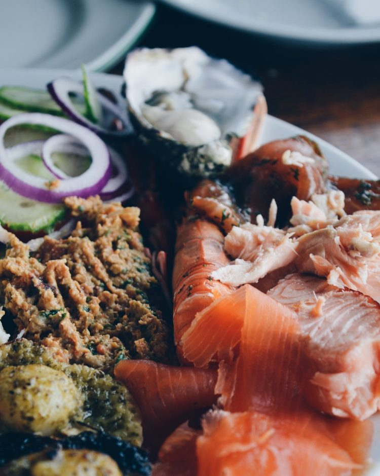 The platter at Skipness Seafood Cabin