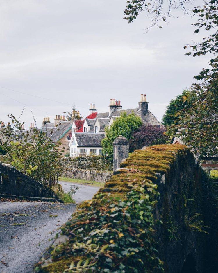 An autumnal house in Skipness, Kintyre