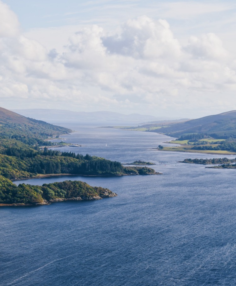 The view from the Tighnabruaich viewpoint