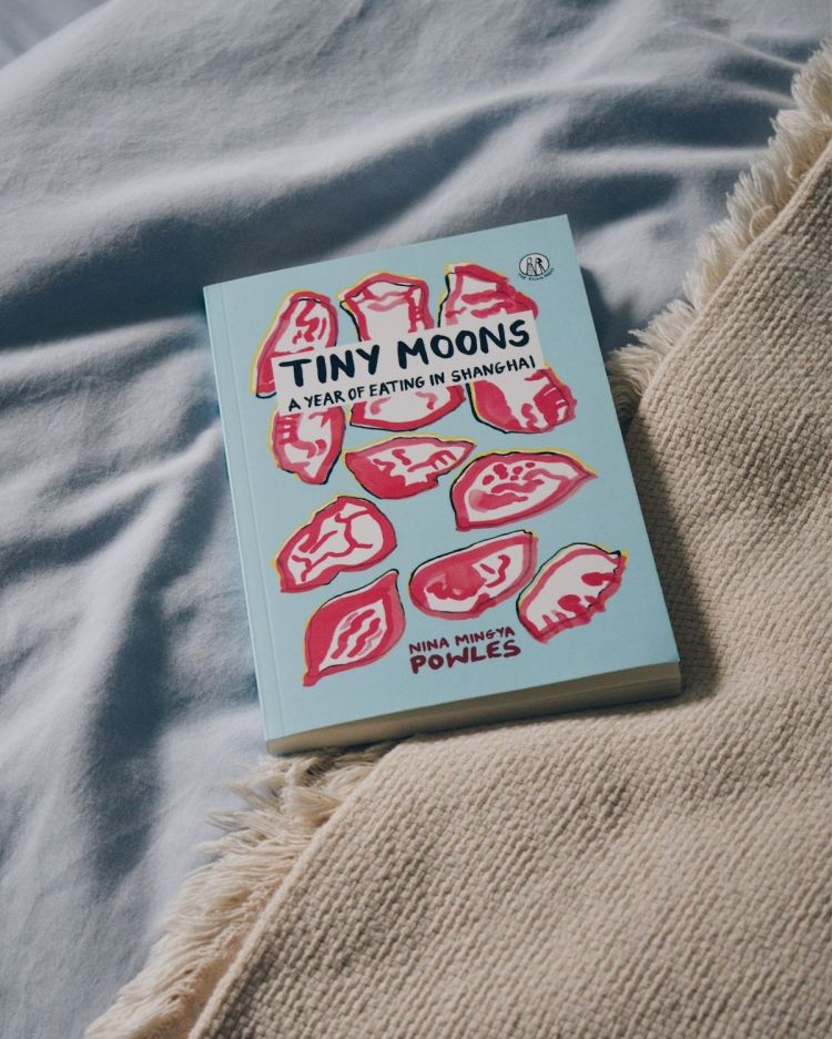 A copy of Tiny Moons on a bed